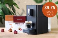 Delizio Carina inkl. 48 Kapseln Lungo Crema oder Espresso Classico im Delizio Shop