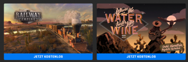 Railway Empire + Where The Water Tastes Like Wine gratis im Epic Games Store