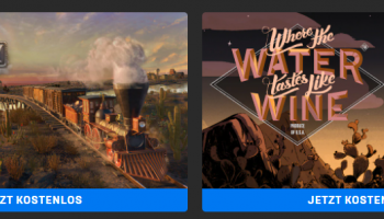 Railway Empire + Where The Water Tastes Like Wine gratis im Epic Games Store
