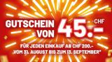 Conforama: 45 Franken Gutschein ab 100 Franken MBW beim Einkauf ab 200 Franken
