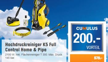 Abholung – Hochdruckreiniger Kärcher K5 Full Control Home & Pipe bei Obi für Cumulus-Kartenbesitzer