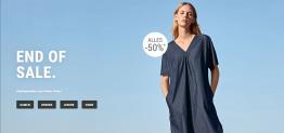 Hessnatur: End of Sale – 50% Rabatt auf alle Sale-Artikel (Bio-Mode, auch für Allergiker geeignete Mode)