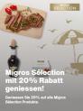 Migros: 20% Rabatt auf das Sélection-Sortiment, u.a. Mochi-(R)Eisbällchen