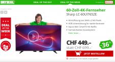 Sharp LC-60UI7652E 60-Zoll-4K-Fernseher als Deal der Woche bei Daydeal für CHF 449.-