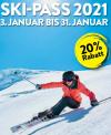 Angekündigt: 20% Rabatt in über 60 Skigebieten von 03. bis 31. Januar 2021
