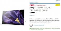 Sony KD-65AF9 OLED 4K TV bei Digitec für CHF 2499.-