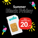 Summer Black Friday bei Yallo: Bis zu 65% Rabatt