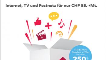 Media Markt Gutschein im Wert von CHF 250.- geschenkt bei Neuabschluss von Sunrise We Home XL+ 24 Monate