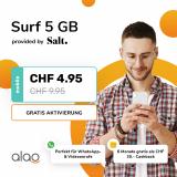 5GB Daten-SIM pro Monat für unter 3 Franken!