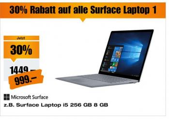 30% Rabatt auf Surface Laptops (1.Gen) bei Melectronics