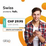 Salt Swiss bei Alao inklusive Cashback + Gutschein für CHF 27.70 / Mt.
