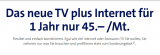 Swisscom inOne home L (Internet L, TV L und Festnetz L) 12 Monate für 45.- CHF statt 160.- CHF – 72% Rabatt