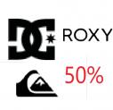 Winterbekleidung von Quiksilver, Roxy und DC 50% zusätzlich auf Sale