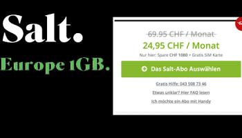 Salt: CH alles unlimitiert + Ausland alles unlimitiert (ausser 1GB Daten) für CHF 24.95 für B2B-Kunden