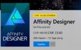 Affinity Photo und Designer je 30% billiger im Microsoft Store