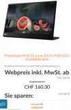 Höhere Rabatte im Cyber-Sale, z.B. ThinkVision M14 portables Bildschirm im Lenovo Store