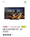 LG OLED65B8 für Netto. 1529.- in einer LG 10% Rabatt Aktion