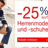 Nur heute: 25% auf Herrenmode und –schuhe bei Quelle, z.B. Wrangler Stretch-Jeans für CHF 67.43 statt CHF 89.90