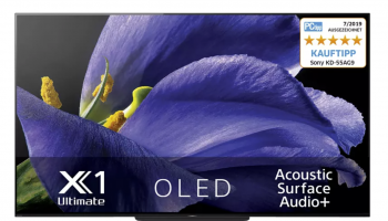 Sony KD-65AG9 OLED-TV mit Android + 5 Jahre Garantie bei Azone