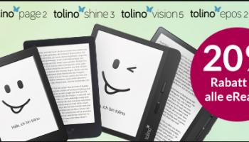 20% auf eBook-Reader bei Orell Füssli z.B. Tolino Page 2