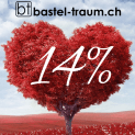 14% Rabatt am 14. Februar 2019 auf das ganze Sortiment. z.Bsp. Brother ScanNCut CM700