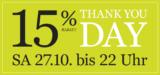 15% auf alles bei Jelmoli (nur am 27.10.2018)