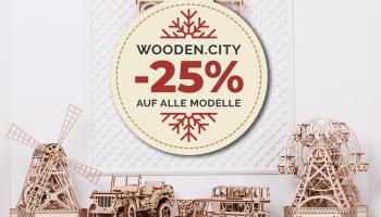 25% Rabatt auf Wooden.City Holzbaumodelle bei derdealer.ch!