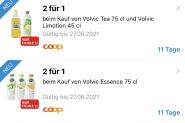 2 für 1 Volvic in der CoopSupercard App