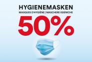 50% auf Schutzmasken im Chicoree