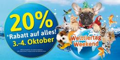 3.-4. Oktober 20% auf alles bei Petfriends