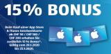 Zusätzlich 15% Bonus auf App Store & iTunes Geschenkkarte (ab CHF 50) bei Aldi