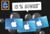 Ankündigung: Zusätzlich 15% Bonus auf App Store & iTunes Geschenkkarte (ab CHF 50) bei Aldi