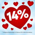 """14% auf alles bei Angela Bruderer, z.B. Zierkissen """"Herz"""" für CHF 21.46 statt CHF 24.95"""