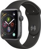 Apple Watch Series 4 Aluminiumgehäuse Spacegrau Sportarmband Schwarz