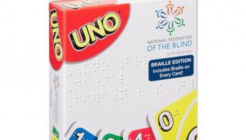 MATTEL UNO Braille Edition (Blindenschrift)