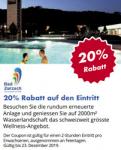 20% auf 2-Stunden Eintritt im Thermalbad Zurzach