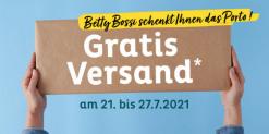 Gratis Versand bei BettyBossi vom 21. bis 27. Juli 2021