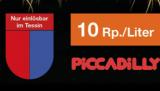 [Regional TI] 10 Rp./Liter Rabatt auf eine Tankfüllung Benzin oder Diesel via Migrolino-App bei Piccadilly