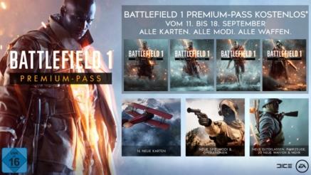 Battlefield 1 Premium Pass (alle DLCs) gratis erhältlich für Besitzer von Battlefield 1 vom 24.10.-31.10.