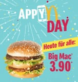 Heute (28.3.2019) gibt es den BigMac bei McDonalds wieder für CHF 3.90