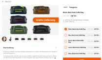Patagonia Duffle Bag 55L in der poinz app