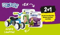 My Baby Windeln im Coop mit 66% Rabatt + gratis Laufrad