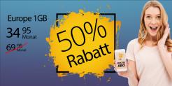 Salt Europe 1GB für CHF 34.95 bei Handy-Abovergleich