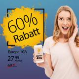 Salt Europe 1GB für CHF 27.95 bei Handy-Abovergleich