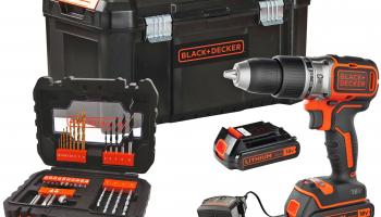 Black & Decker 18 Li-2 (52 Nm), 2 Akkus (2 Ah) und 31-tlg. Zubehör Set bei doitgarden.ch