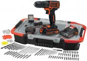 Hammer – Black&Decker 18 Li, 2 Akkus & 160-tlg. Zubehör fast zum Preis vom Bohrschrauber alleine bei Do It + Garden