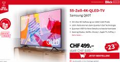 BlickDeal Samsung 55″ TV für CHF 499.-