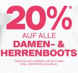 20% auf Boots Herren und Damen bei Dosenbach nur Heute