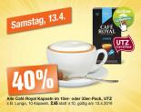 Heute (13.4.2019) 40% Rabatt auf alle Café Royal Kapseln bei Migros und LeShop