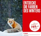 Canon Wintercashback nur noch bis am 17. Januar